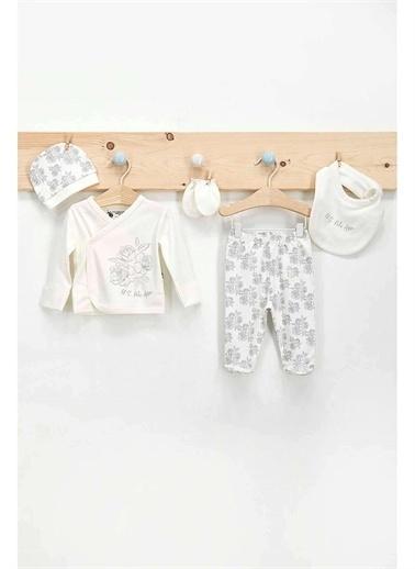 U.S. Polo Assn. U.S. Polo Assn Lisanslı 5 Li Hastane Çıkışı Kız Bebek Somon Krem